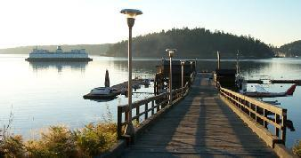 Early morning ferry at UW's Friday Harbor Labs, San Juan Island